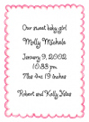 Pink Scallop Border Baby Shower Invites
