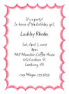 Pink Flare Border Invitations
