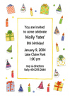 Birthday Collage Party Invitation Envelope