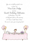 Brunette Tea Party Invitation Envelope