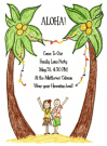 Luau Couples Party Invitation Envelope