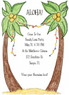 Luau Party Invitation Envelope