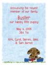 Dog Party Invitation Envelope
