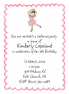 Brunette Ballerina Waterproof Label