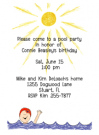 Pool Woman Party Invitations