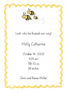 Bee Family Of 3 Baby Announcement Envelope