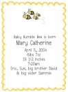 Bee Family Of 4 Baby Shower Invites