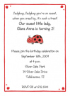 Ladybug Address Labels