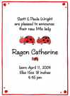 Ladybug Family Of 3 Baby Shower Invites