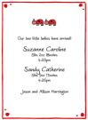 Ladybug Family Twins Baby Shower Invites