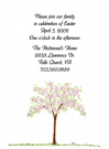 Spring Tree Baby Shower Invites