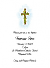 Cross Invitations for a Baptism