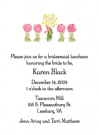 Wedding Bouquets Party Invites