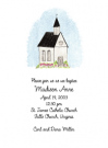 Pink Church Invitations