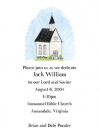 Blue Church Party Invitation Envelope