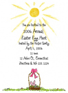 Easter Basket Baby Shower Invites