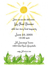 Lilies Of The Valley Invitations for a Baptism