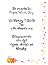 Valentine Bee Party Invitation Envelope