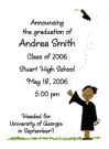 African American Girl Graduate Announcements