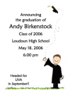 Brunette Boy Graduate Party Banner