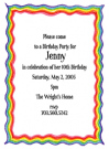 Rainbow Birthday Cake Flat Card