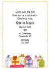 Girly Gift Bunch Baby Shower Invites