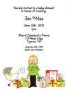 Blonde Mom's Baby Shower Invitation Envelope Neutral
