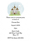 Pink Castle Baby Shower Invites