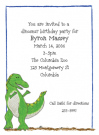 T-Rex Baby Shower Invites