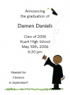 African American Boy Graduate Announcements