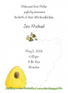 Bee Family Of 3 Baby Shower Invites