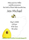 Beehive Family Of 3 Baby Shower Invites