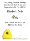 Beehive Family Of 5 Baby Shower Invites