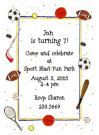 Sport Collage Party Invitation Envelope
