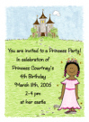 African American Princess Invitations