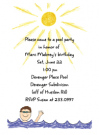 Brunette Pool Boy Invitations
