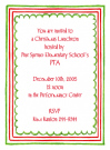 Triple Christmas Border Baby Shower Invites