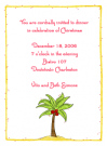 Christmas Palm Tree Calling Cards