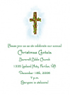 Pink Cross Invitations for a Baptism