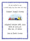 Train Baby Shower Invites