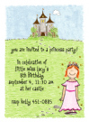 Red Head Princess Invitations