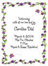 Caroline Purple Border Calling Cards