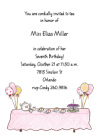 Tea Party Invitation Envelope
