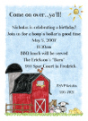 Barnyard Baby Shower Invites
