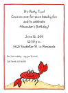 Crab Invitations