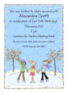 Girl's Ice Skating Invitations