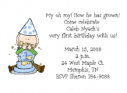 Girls First Birthday Party Invitations