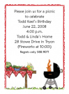 Picnic With Grill Invitations