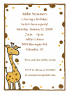 Giraffe Invitations
