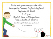 Girl's Bowling Invitations